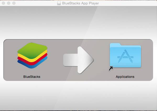 BlueStacks install screen on Mac OS X